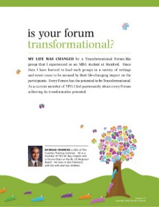 Is Your Forum Transformationa - click here to find out